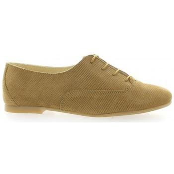Chaussures Femme Derbies Pao Derby cuir laminé Camel