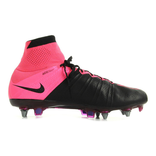 Chaussures Homme Football Nike Mercurial Superfly Leather SG Pro noir