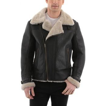 Vêtements Homme Vestes en cuir / synthétiques Giorgio Bradley Noir Noir