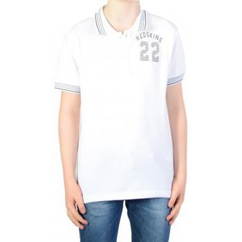 Vêtements Garçon Polos manches courtes Redskins Polo redskins Enfant Wayne Pique  White Blanc