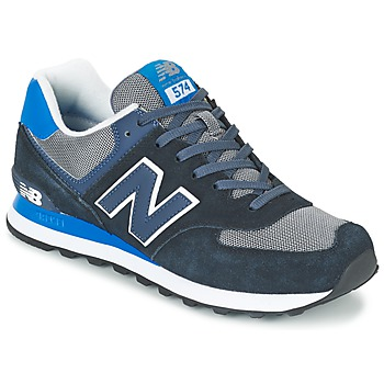 Baskets mode New Balance ML574 Bleu / Noir 350x350