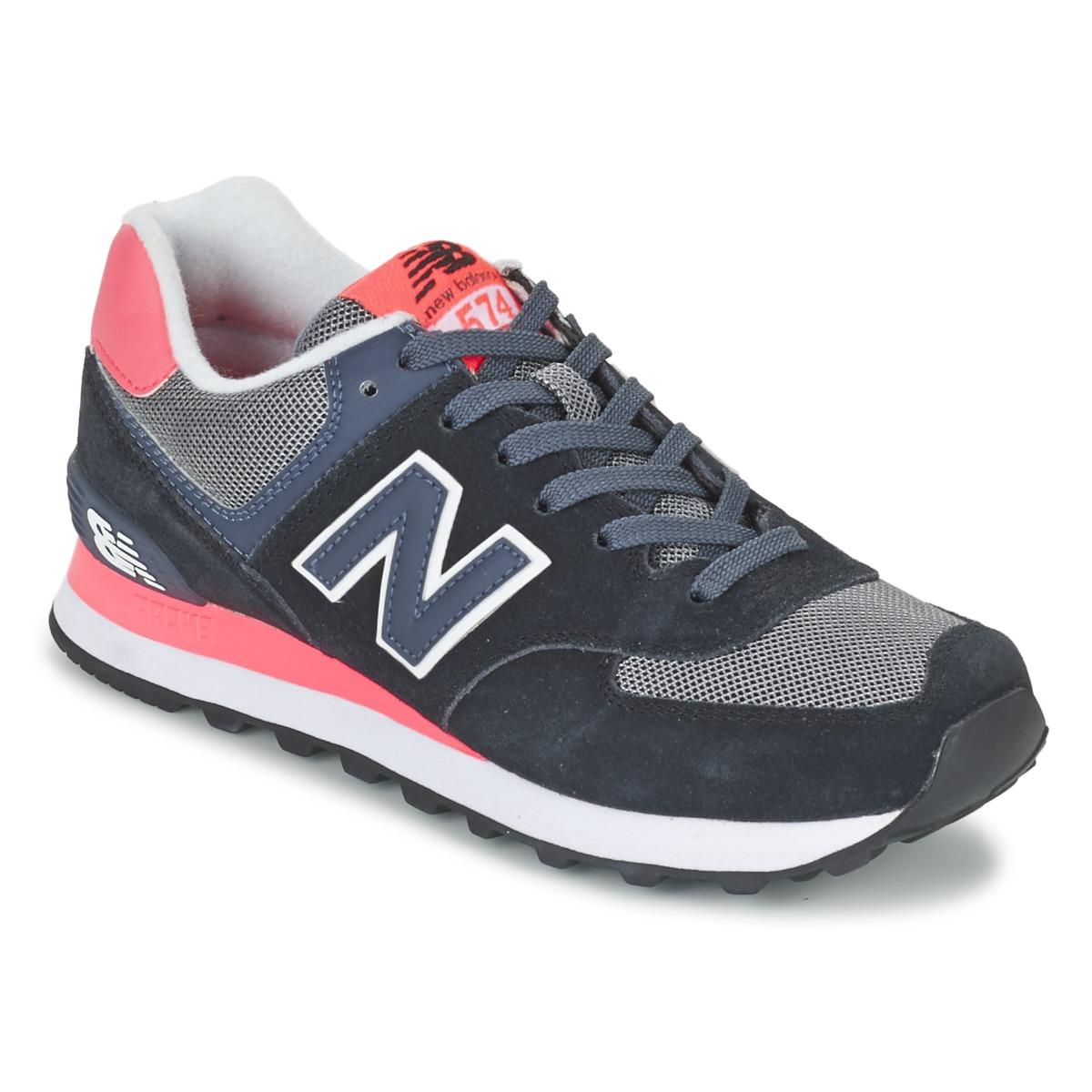 New Balance WL574 Noir / Rose