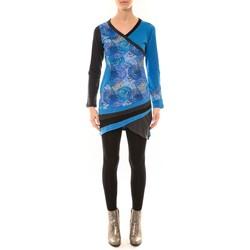 Vêtements Femme T-shirts manches longues Bamboo's Fashion Robe BW640 bleu Bleu