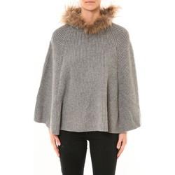 Vêtements Femme Gilets / Cardigans Nina Rocca Poncho MO-E2019 gris Gris