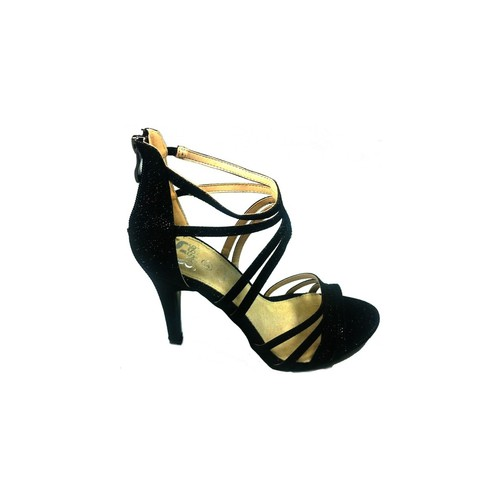Chaussures Femme Sandales et Nu-pieds Cassis Côte D'azur Sandales Multibrides ouvert Noir Oria Noir