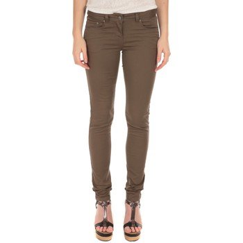 Jeans slim Lpb Woman Textile Les Petites Bombes Pantalon Slim Strech Kaki S161201