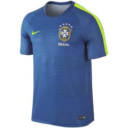 T-shirts manches courtes Nike Maillot de football Brésil Flash Pré-Match - 725298-493
