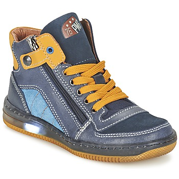 Chaussures Garçon Baskets montantes Primigi ADAM-E Bleu / Jaune