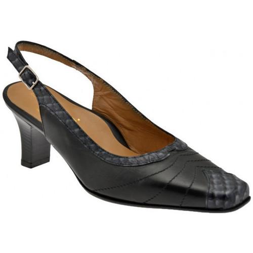 Chaussures Femme Escarpins Bettina 8840 T.60 Cour sangle de la chaussure est Escarpins Noir