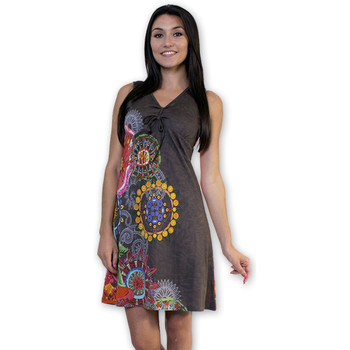 Robes courtes Coton Du Monde Robe ALYSSA 2 Gris
