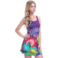 Robes courtes Coton Du Monde Robe LISA Violet