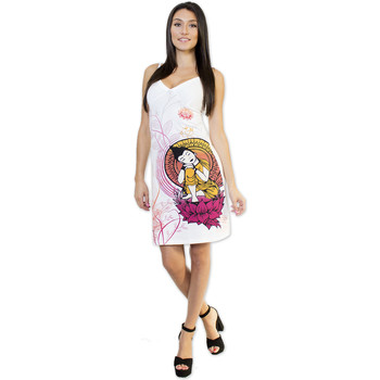 Vêtements Femme Robes courtes Coton Du Monde Robe SOKANA Blanc Multicolore