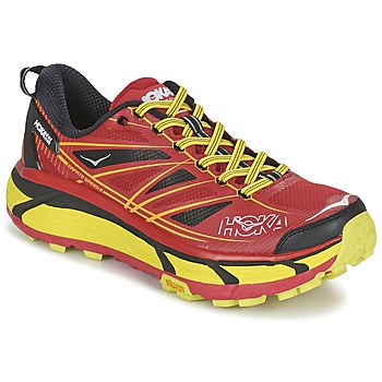 Chaussures Homme Running / trail Hoka one one MAFATE SPEED 2 Rouge / Citron
