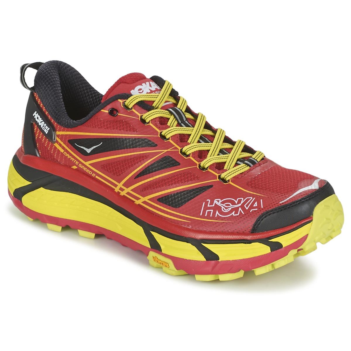 Chaussures-de-running Hoka one one MAFATE SPEED 2 Rouge / Citron