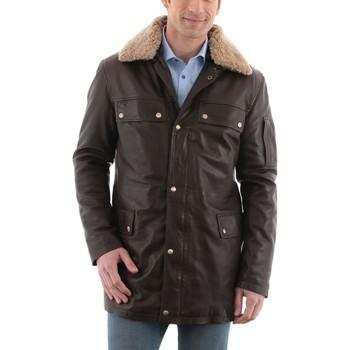 Vêtements Homme Vestes en cuir / synthétiques Mac Douglas Peter Marron Marron