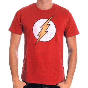 Vêtements Homme T-shirts manches courtes Cotton Division Tshirt Flash DC Comics - classic logo Rouge