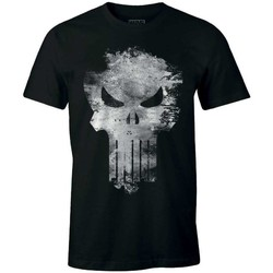 Vêtements Homme T-shirts manches courtes Cotton Division Tshirt Punisher Marvel  - The Punisher Distress Skull Noir