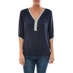 Vêtements Femme Tops / Blouses Barcelona Moda Top Leny Marine Bleu
