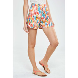 Vêtements Femme Shorts / Bermudas Loreak Mendian Short  Ariane Brocha Regular Fit Taille Haute Multicolor Multicolor