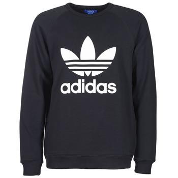 Sweats & Polaires adidas Originals TREFOIL CREW Noir 350x350