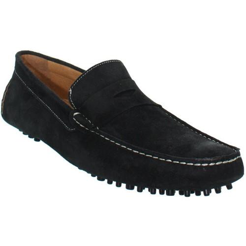 Chaussures Homme Mocassins Baxton Mocassins  ref_bom39234-noir Noir