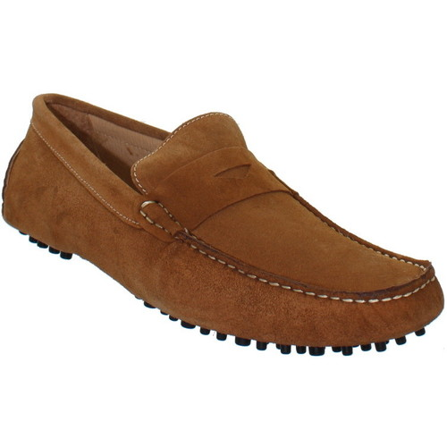 Chaussures Homme Mocassins Baxton Mocassins  ref_bom39231-whisky Marron