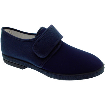 Chaussures Homme Chaussons Davema Slipper coton stretch bleu extra large physiothérapie blu