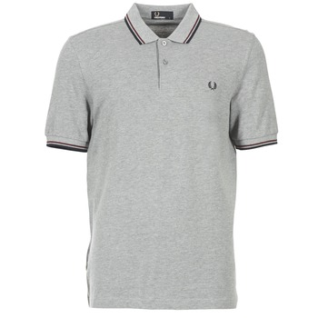 Vêtements Homme Polos manches courtes Fred Perry TWIN TIPPED SHIRT Gris