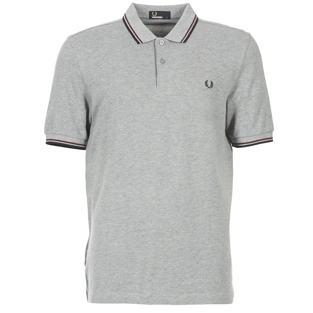Fred Perry TWIN TIPPED SHIRT Gris