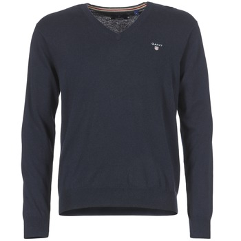 Vêtements Homme Pulls Gant COTTON WOOL V-NECK Marine