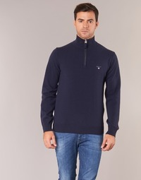 Vêtements Homme Pulls Gant SUPERFINE LAMBSWOOL HALF ZIP Marine