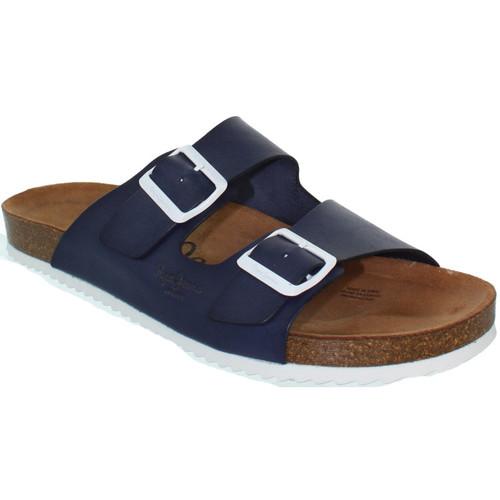 Chaussures Homme Tongs Pepe jeans Sandales  ref_pep39367-580-bleu Bleu