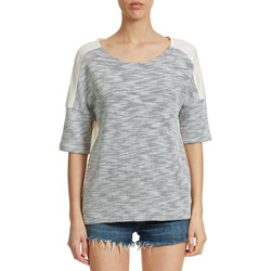 T-shirts manches courtes Loreak Mendian Tee Shirt  Nahatsu Agusto Loose Fit Gris Chine Femme