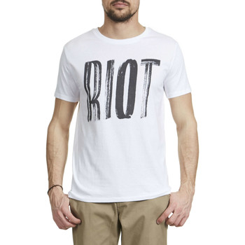 Vêtements Homme T-shirts manches courtes Candy For Richmen Tee Shirt  Riot Sttm528 Blanc Homme Blanc