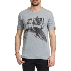Vêtements Homme T-shirts manches courtes Candy For Richmen Tee Shirt  So High Rec Gris Homme Gris