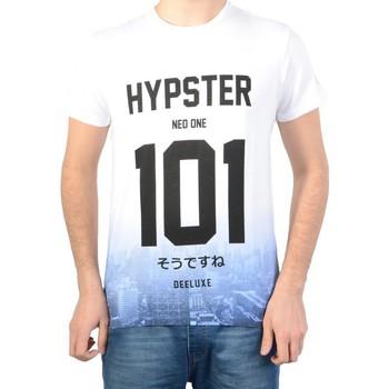 Vêtements Homme T-shirts manches courtes Deeluxe T Shirt Deeluxe S161106 Russel White Blanc