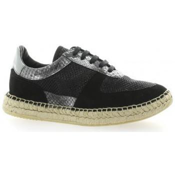 Chaussures Femme Baskets basses Pao Baskets cuir laminé Noir