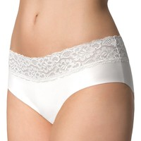 Sous-vêtements Femme Culottes & slips Julimex Slip femme confortable avec dentelle Hipster blanc Blanc
