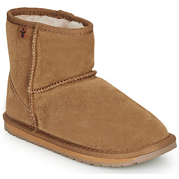 Chaussures Fille Boots EMU WALLABY MINI Chatain