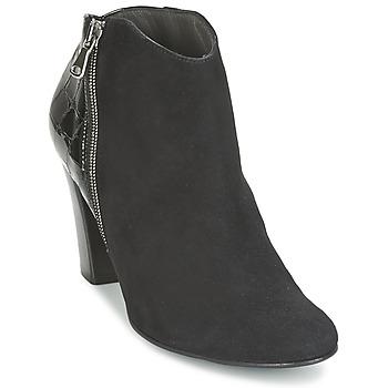 Chaussures Femme Low boots France Mode NANTES Noir verni