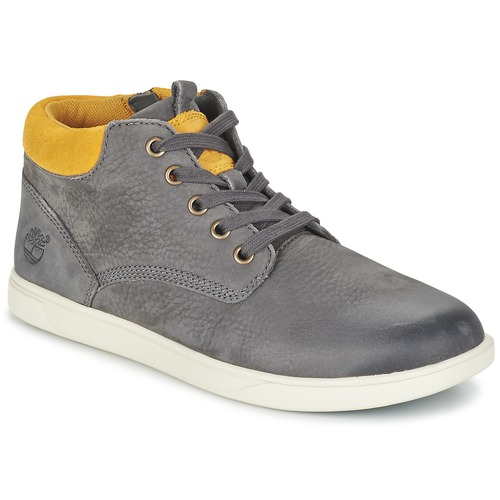 Bottines / Boots Timberland GROVETON LEATHER CHUKKA Gris 350x350