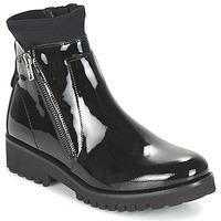 Chaussures Femme Boots Regard REJABI Noir verni