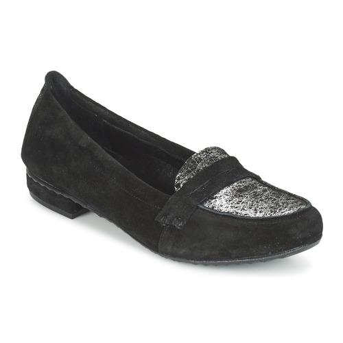 Chaussures Femme Mocassins Regard REMAVO Noir velours