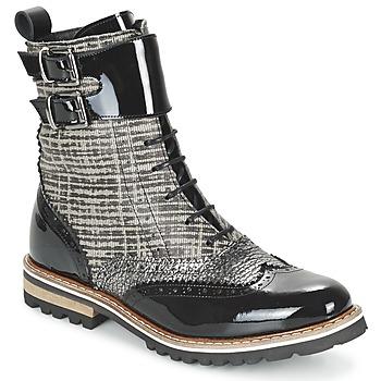 Bottines / Boots Regard RIFADO Gris / Noir verni 350x350