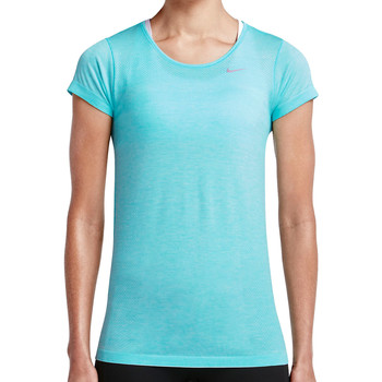 Vêtements Femme T-shirts manches courtes Nike Dri-FIT Knit SS Shirt Women Blau