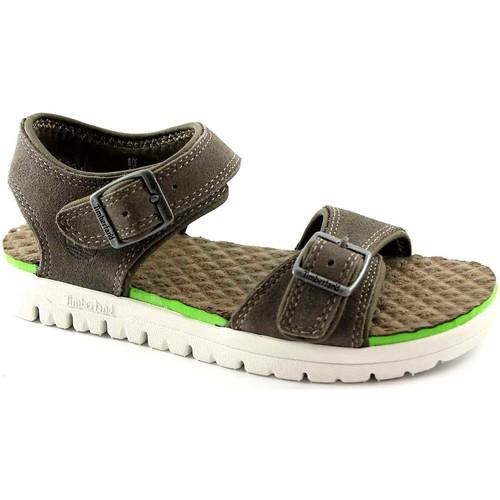 Chaussures Fille Sandales et Nu-pieds Timberland 2170A chaussures gris sandales bébé de boucles réglables Grigio