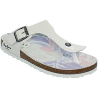Chaussures Femme Tongs Pepe jeans Tongs  ref_pep39368-blanc blanc