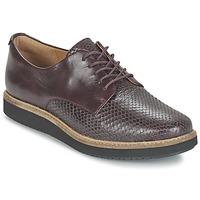 Chaussures Femme Derbies Clarks GLICK DARBY Aubergine