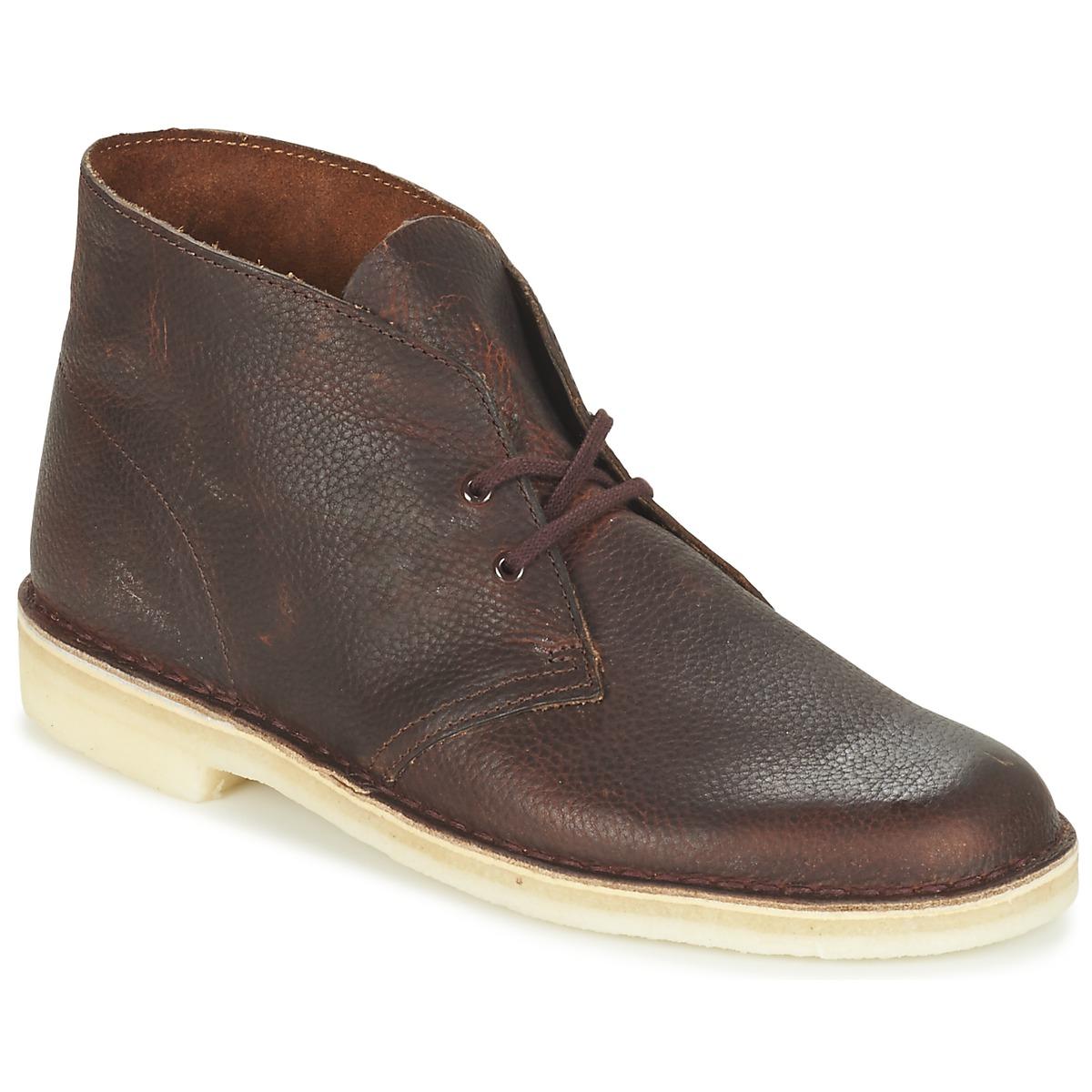 clarks desert boot marron livraison gratuite avec chaussures boots homme 90 30. Black Bedroom Furniture Sets. Home Design Ideas
