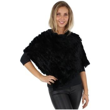 Vêtements Femme Gilets / Cardigans Oakwood Poncho  Davos en fourrure ref_cco29059-Noir Noir
